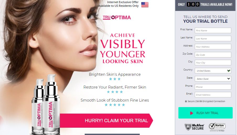Tru Optima {Reviews Updated} – Anti Aging Serum for Glowing Skin! Trial